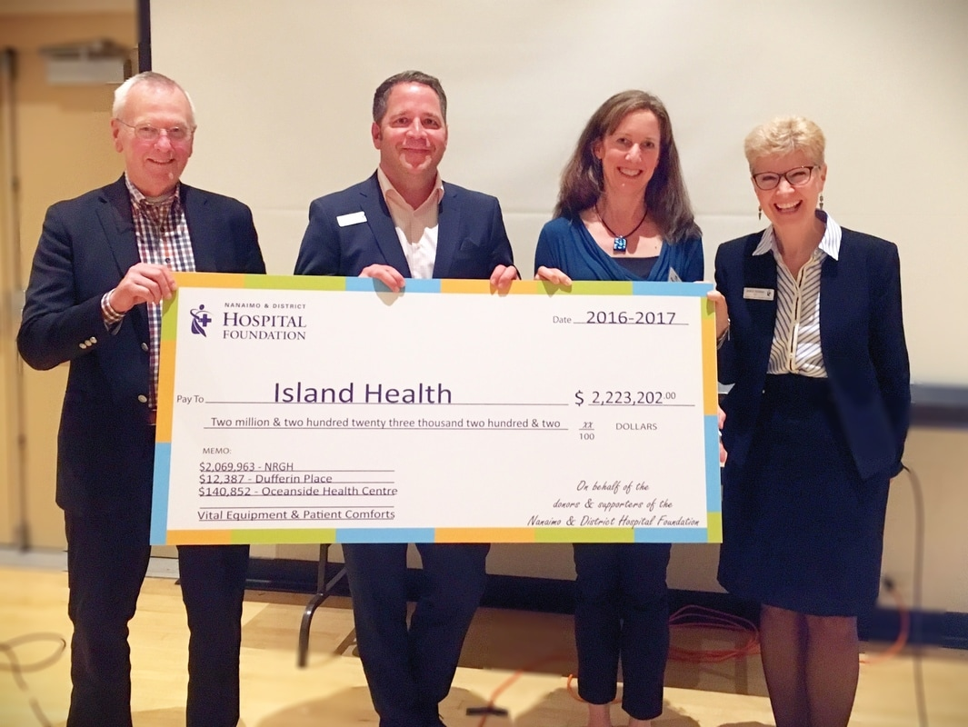 The Nanaimo & District Hospital Foundation gives over $2.2 Million to healthcare