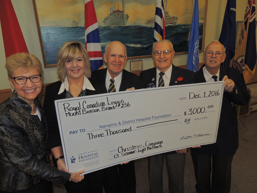 Royal Canadian Legion #256 generously give $3,000 for first annual Christmas Campaign