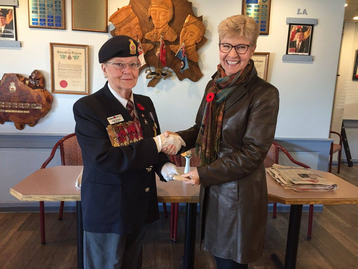 Royal Canadian Legion, Ladies Auxiliary, Branch #257 donate to NRGH