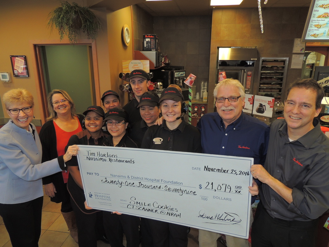 "Tim Hortons ""Smile Cookies"" Fund Vital Equipment"