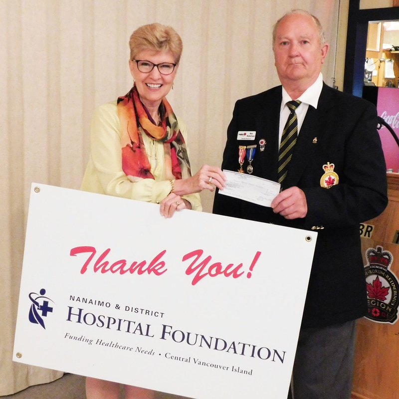 Royal Canadian Legion #10 Gives to Foundation