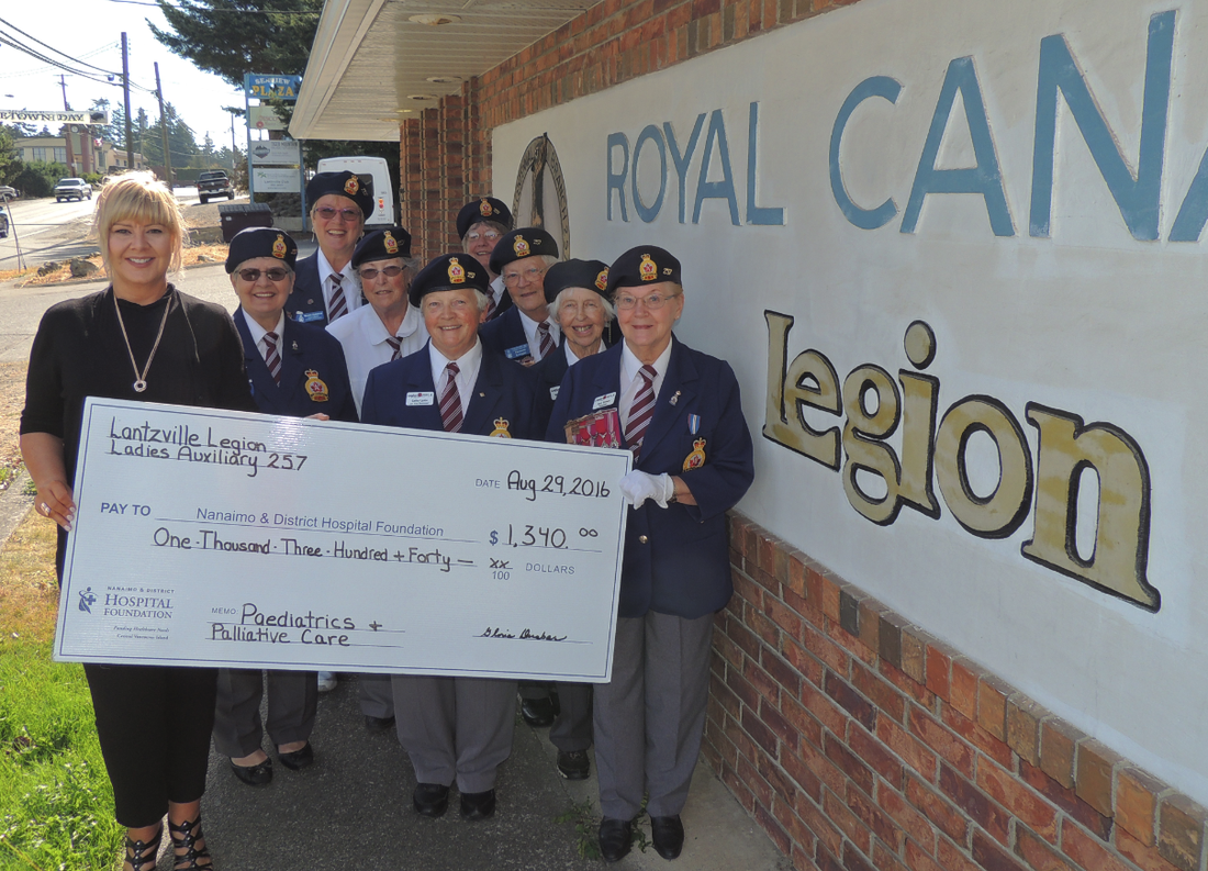 Royal Canadian Legion Lantzville Ladies Auxiliary 257 Continue to Serve