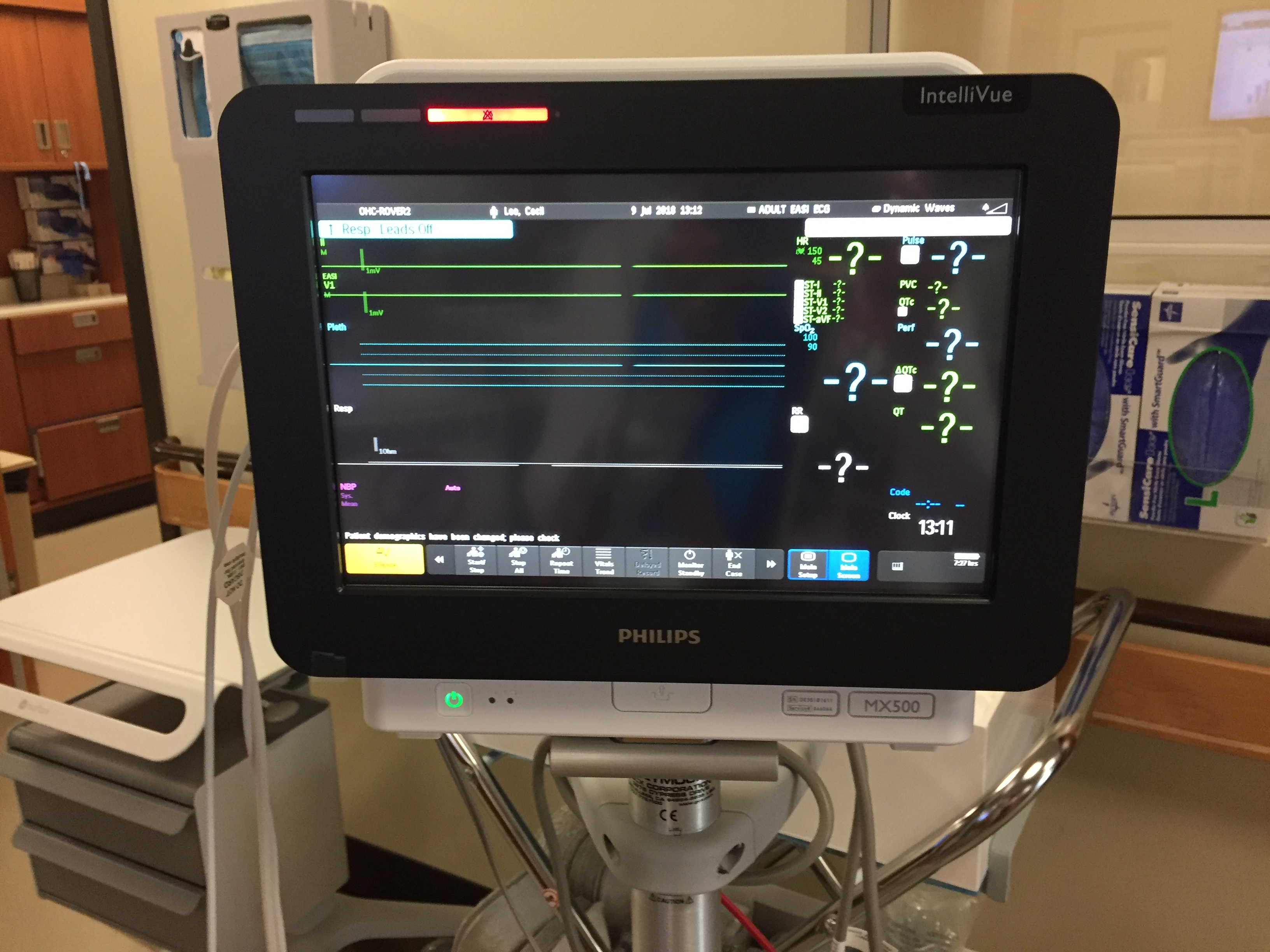 New Cardiac Bedside Monitor at Oceanside Health Centre