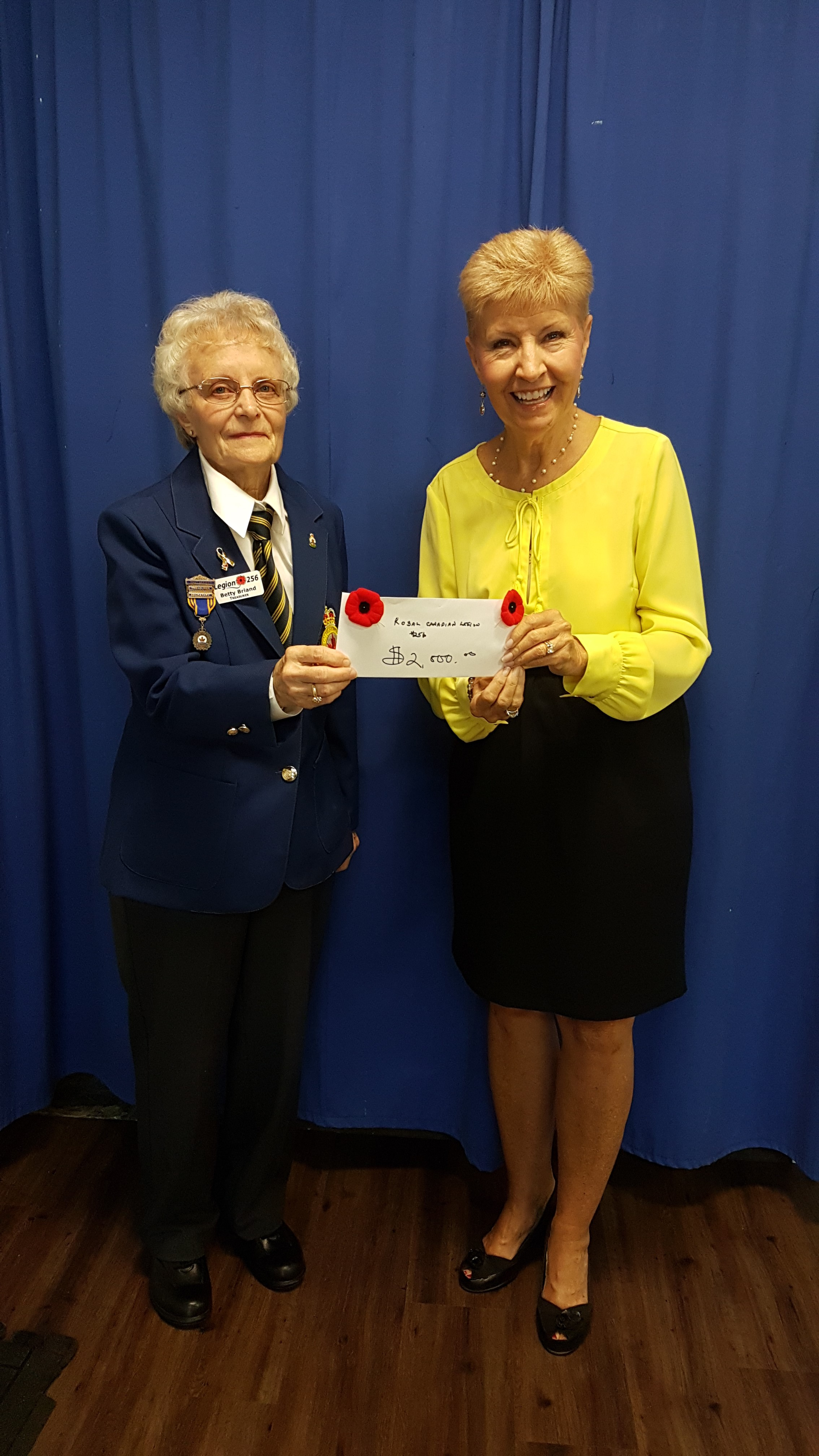 Royal Canadian Legion Branch 256 Continues Their Support