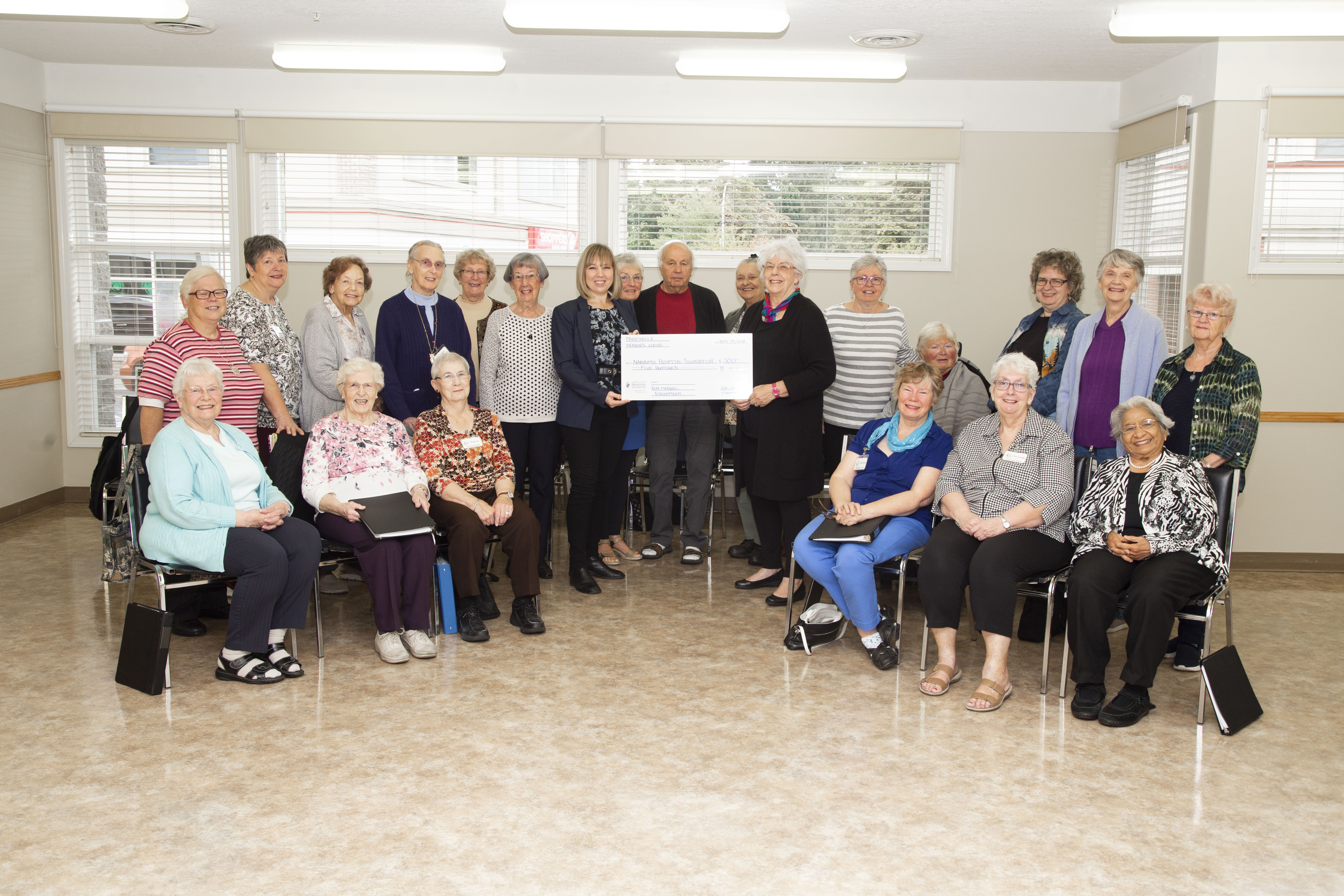 Parksville Seniors' Drop-In Centre Choir donates $500