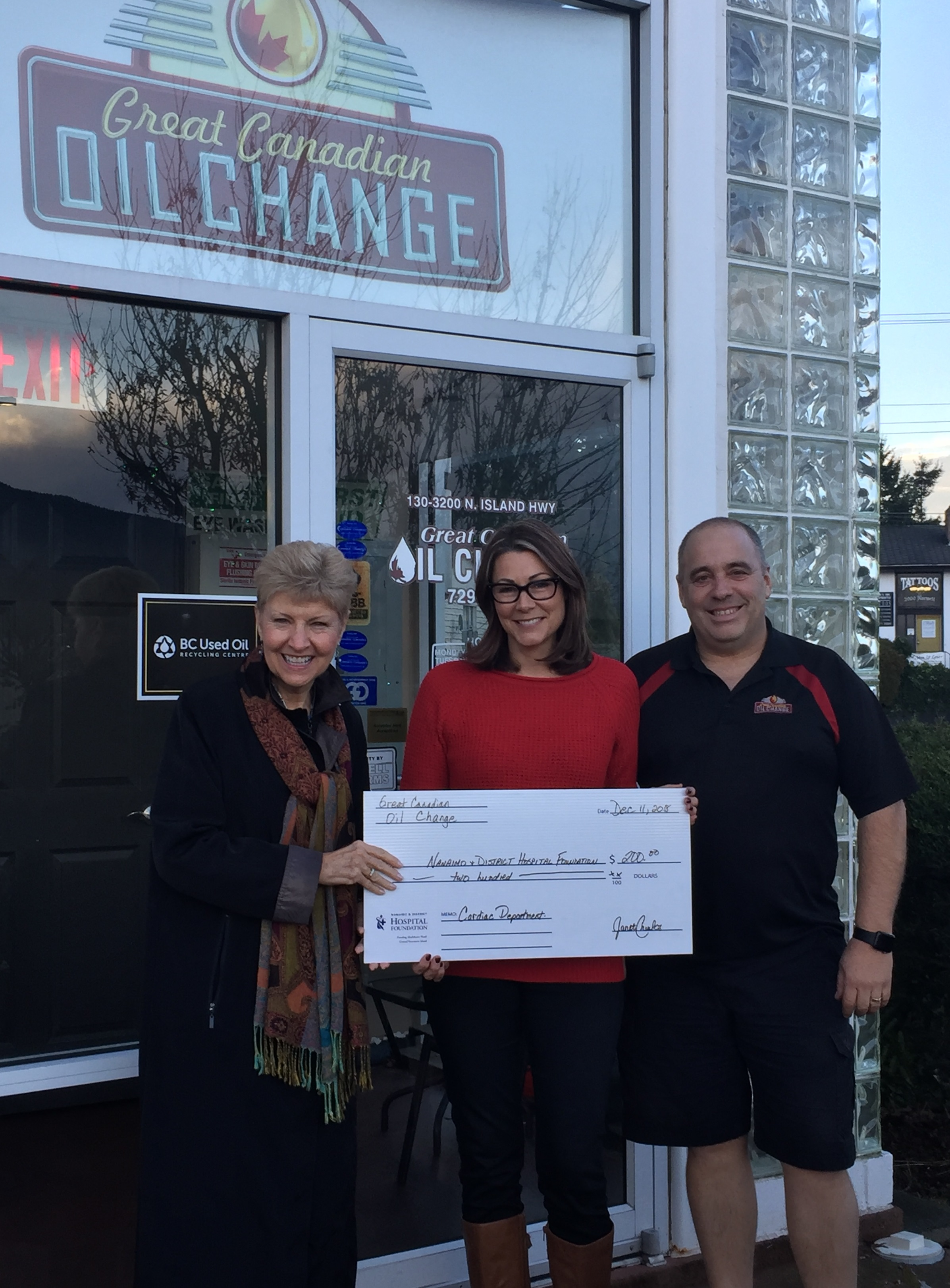Great Canadian Oil Change Donates to Christmas Campaign
