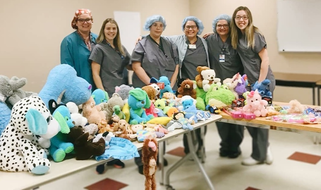 Medical Device Reprocessing Department @ NRGH Donates Teddy Bears
