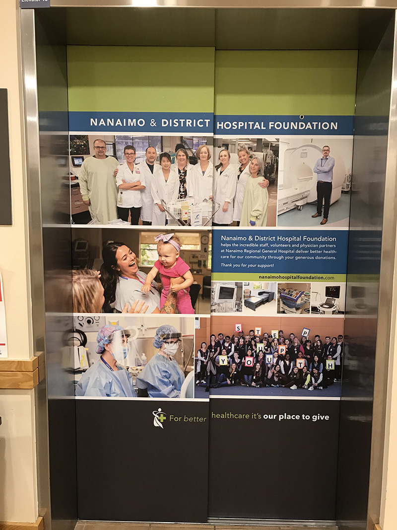 New Elevator Wraps at NRGH
